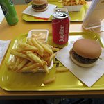 Fries and burger