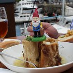 Marrow bone served with my travelling gnome