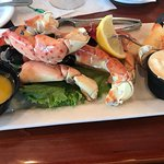 stone crabs with drawn butter and mustard sauce