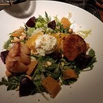 Beet Salad with Scallops