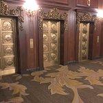 Bronze door elevators at Omni Parker House