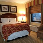 Deluxe queen room view at Omni Parker House