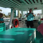 Captain Mike giving introductory talk and safety briefing