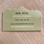 Jindabyne Brewery business card and address
