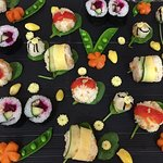 If you are a vegetarian, why don't you try this vegetarian sushi?