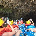 Starting our cave tubing trip