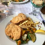 Chicken schnitzel with vegetables; highly recommended...