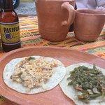 chicken and cactus tacos - SOOOO amazing