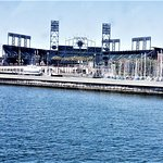 VIEW OF GIANTS BALL PARK FROM FERRY