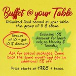 Buffet @ your table