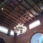 The ceiling was very pretty. It added to the atmosphere of the restaurant.