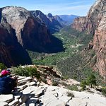 Enjoying the view from Angel's Landing