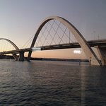 Vista da ponte ao pôr do sol