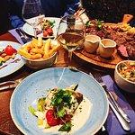 Gebakken kabeljauw met peterseliesaus en de grillplank