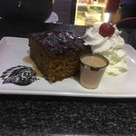 Malva Pudding served with Amarula cream Liquor top with fresh cream ... simply the best traditio