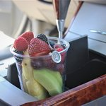 Easy to eat on the go fruit cups.