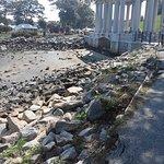 Memorial surrounding Plymouth Rock.