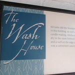 sign for the wash house.