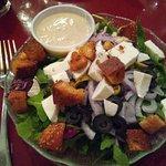 Arugula salad and Honey Mustard dressing