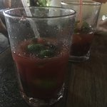 Best strawberry mojitos and amazing food!!  Great burgers- vegetarian and meat!  Awesome guacamo