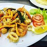 fritto di gamberetti e calamari