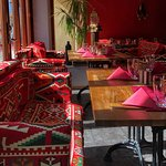 The Turkish style of the restaurant..! <3 Very beautiful