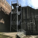 Stairs to bottom of dry dock