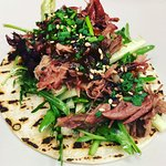 DUCK TACO WITH PICKLED ASIAN SALAD & MISO-HOISIN