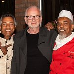 Frequent Diner Ian McDairmid The Emperor from Star Wars with Ala Uddin & Chef Dhan Ali