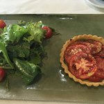 Tomato tart with salad