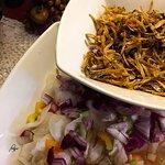 Hinanggop Salad with Anchovy Fries.