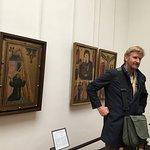 Klaas telling us the history behind each painting