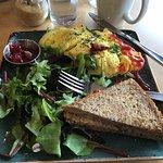 Morning Market Omelet (blame me for the ketchup!)