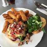 La Bamba Burger. Vegetarian burger with a Mexican twist