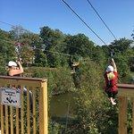 We raced on the double ziplines!!