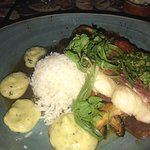 Ginger red snapper dish! Must order, so good!