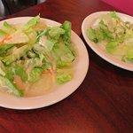 side salads with peanut sauce