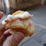 Prosciutto and cheese cicchetti