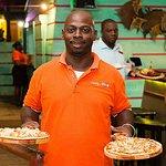 Fantastic Floyd Serving Pizza