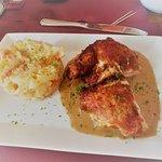 Yo comí pollo también pero el arroz al estilo belga