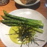 Asparagus with wasabi hollandaise