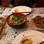 szechuan chicken and beef w/ vegetables