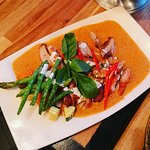 Grilled duck panang red curry. Duck was bit chewy, otherwise it was excellent.