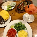 Great build-your-own steak tacos, chicken fajitas, and strawberry margaritas.