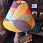 Eangee Lamp Shade made with real leaves