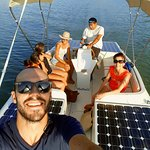 Just ask to try our solar boat!
