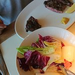 Rib-eye and radicchio salad