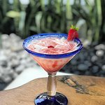 Who's thirsty? Try this refreshing coconut strawberry daiquiri.