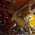 Wall above bar