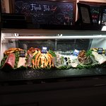 Excellent selection of fresh fish and seafood